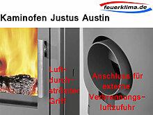 Justus Austin 5 5,0 kW Stahl schwarz Kaminofen Schwedenofen Ofen