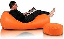 JUSTyou Active Sitzsack Sessel Riesensitzsack Kunstleder Farbe: Orange