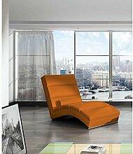 JUSTyou CHICAGOU Liege Relaxliege Loungesessel Kunstleder (BxLxH): 75x175x85 Orange