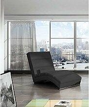 JUSTyou CHICAGOU Liege Relaxliege Loungesessel Kunstleder (BxLxH): 75x175x85 Schwarz