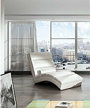 JUSTyou CHICAGOU Liege Relaxliege Loungesessel Kunstleder (BxLxH): 75x175x85 Weiß
