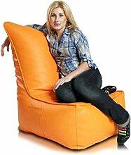 JUSTyou Elegant Sitzsack Sessel Riesensitzsack Kunstleder Farbe: Orange