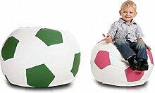 JUSTyou Fußball Small Sitzsack Sessel Bodenkissen Kunstleder Farbe: Rosa