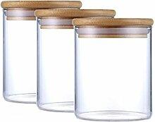Justyou Glasbehälter Mit Deckel Set Vorratsglas