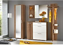 JUSTyou IDO Garderobe Garderobenset Garderobenschrank (HxBxT): 195x225x35 cm Pflaume Matt / Weiß Ma