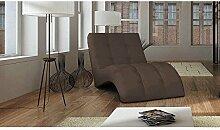 JUSTyou LAGUNA Liege Relaxliege Loungesessel Kunstleder (BxLxH): 76x170x83 Braun