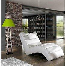 JUSTyou LOS ANGELES Liege Relaxliege Loungesessel Kunstleder (BxLxH): 75x172x92 Weiß