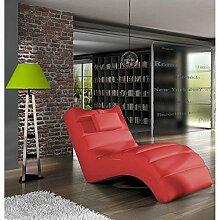JUSTyou LOS ANGELES Liege Relaxliege Loungesessel Kunstleder (BxLxH): 75x172x92 Ro
