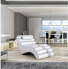 JUSTyou MIAMI Liege Relaxliege Loungesessel Kunstleder (BxLxH): 75x168x80 Weiß