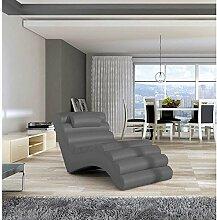 JUSTyou MIAMI Liege Relaxliege Loungesessel Kunstleder (BxLxH): 75x168x80 Grau