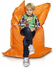 JUSTyou Pillow M Sitzsack Sessel Riesensitzsack Nylon Farbe: Orange