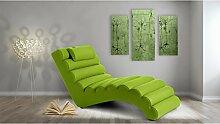JUSTyou RELIKS Liege Relaxliege Loungesessel Kunstleder (BxLxH): 75x168x80 Grün