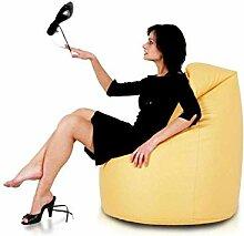 JUSTyou Sako Sitzsack Sessel Riesensitzsack Kunstleder Farbe: Gelb I