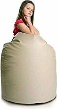 JUSTyou Sako Sitzsack Sessel Riesensitzsack Kunstleder Farbe: Cappuccino