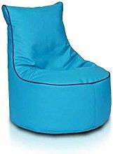 JUSTyou Seat S Sitzsack Sessel Bodenkissen Kunstleder Farbe: Türkis Blau
