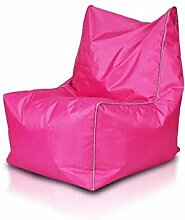 JUSTyou Solid Sitzsack Sessel Riesensitzsack Nylon Farbe: Rosa Weiß
