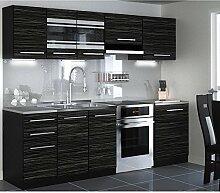 JUSTyou Torino LED Küchenzeile Küchenblock Küche 240 cm Länge Griffvariante II