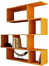 JUSTyou Vago Regal Standregal Bücherregal (HxBxT): 145x140x30 cm Farbe: Orange Ma
