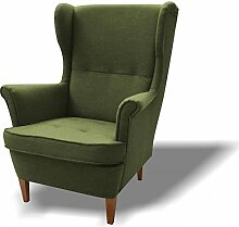 JUSTyou Wood Sessel Relaxsessel Loungesessel Strukturstoff (LxHxB): 82x100x92 cm Grün