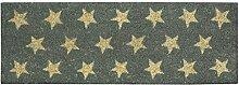 Jute & Co Fußabstreifer, Kokos, grau mit Sternen,