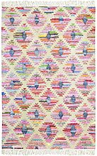 Jute & co Kilim Teppich aus Baumwolle Hochwertiger Stoff Handarbeit, mehrfarbig