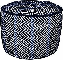 Jute & co pou09Sitzsack, Wolle, Blau, 60x 60x 40cm