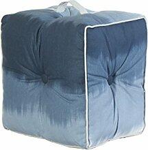 Jute & co pouf19den Sitzsack mit Griff, Leinwand, denim, 40x 30x 40cm