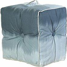 Jute & co pouf19gri Sitzsack mit Griff, Leinwand, grau, 40x 30x 40cm