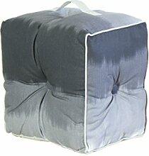 Jute & co pouf19grisc Sitzsack mit Griff, Leinwand, grau, 40x 30x 40cm