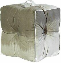 Jute & co pouf19mar Sitzsack mit Griff, Leinwand, braun, 40x 30x 40cm