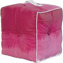 Jute & co pouf19ros Sitzsack mit Griff, Leinwand, Rot, 40x 30x 40cm