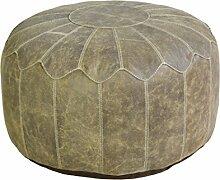 Jute & co poufpe5025mar Sitzsack, Leder, Braun, 50x 50x 25cm