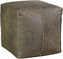 Jute & co poufpeqmar Sitzsack Cube, Leder, Braun, 38x 38x 38cm