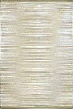 Jute & co Sevilla Teppich aus Baumwolle Hochwertiger Stoff Hand, Beige