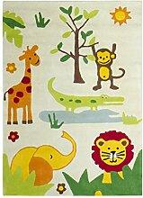 Jute Co. Teppich für Kinderzimmer, Baumwolle