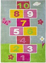 Jute & Co. Teppich für Kinderzimmer, Baumwolle