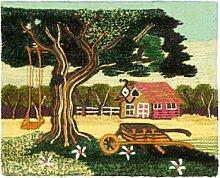 Jute & co. Teppich Landschaft mehrfarbig 60x 45cm