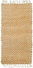 Jute Handgewebte Naturfaser Teppich 140x 200