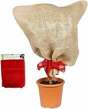Jutesack rot Pflanzen-Schutzsack Winterschutz