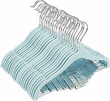 juvale 24Stück Baby Kleiderbügel, Samt, mit Clips blau Ultra Dünn keine Slip Kids 30,5x 20,3cm durch