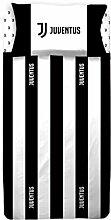 Juventus 6393673S001Bettwäsche, 100% Baumwolle, Weiß/Schwarz, Einzelbett, 40x 29x 3cm, 10Stück