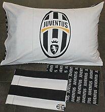 Juventus Bettwäsche, Baumwolle, Weiß/Schwarz,