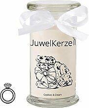 JuwelKerze Cookies & Cream - Kerze im Glas mit