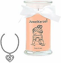 JuwelKerze Cozy & Lazy - Kerze im Glas mit Schmuck