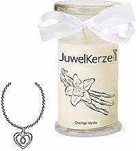 JuwelKerze Cremige Vanille - Kerze im Glas mit