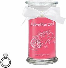 JuwelKerze Delicious Christmas - Kerze im Glas mit