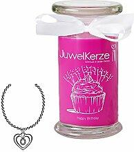 JuwelKerze Happy Birthday - Duftkerze im Glas