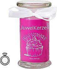 JuwelKerze Happy Birthday - Duftkerze im Glas mit