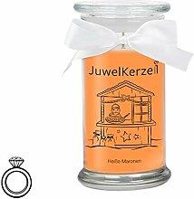 JuwelKerze Heiße Maronen - Kerze im Glas mit