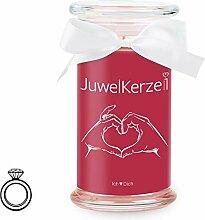 JuwelKerze Ich Liebe Dich - Kerze im Glas mit